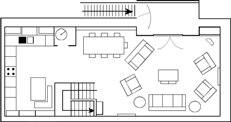 Carden Luxury Cottages - The Barn First Floor Plan