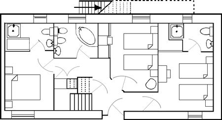 Carden Luxury Cottages - The Barn Ground Floor Plan