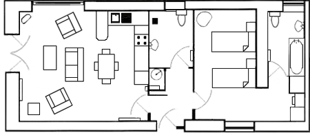 Carden Luxury Cottages - The Bothy Ground Floor Plan