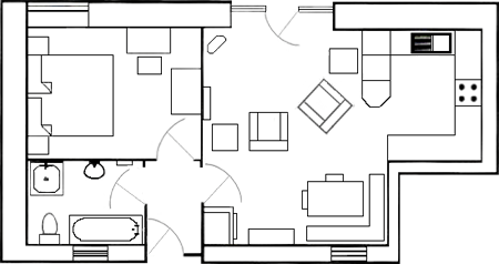 Carden Luxury Cottages - The Byre Ground Floor Plan