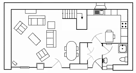 Carden Luxury Cottages - The Cart House Ground Floor Plan